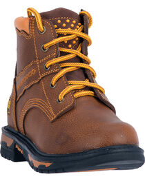 Dan Post Kid's Leather Zyon Lace-Up Work Boots, , hi-res