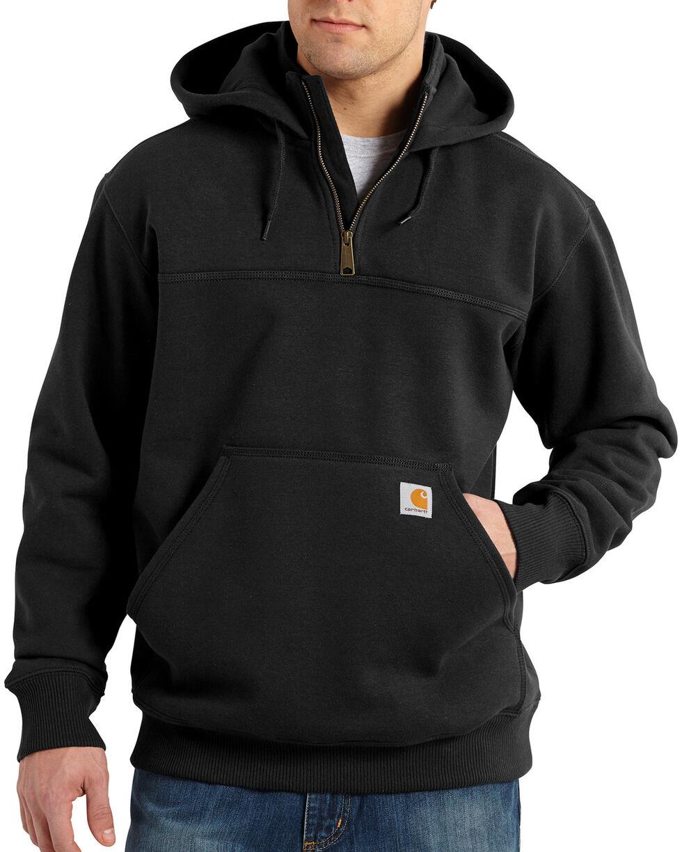 Carhartt Rain Defender Paxton Hooded Zip Mock Sweatshirt, Black, hi-res