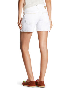 "Ariat Women's 5"" Boyfriend Geo Petal Shorts, White, hi-res"