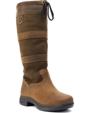 Dublin Wide River Equestrian Boots, Brown, hi-res