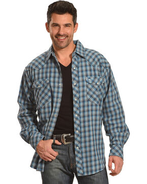 Resistol Men's Blue Pembroke Checkered Shirt , Blue, hi-res