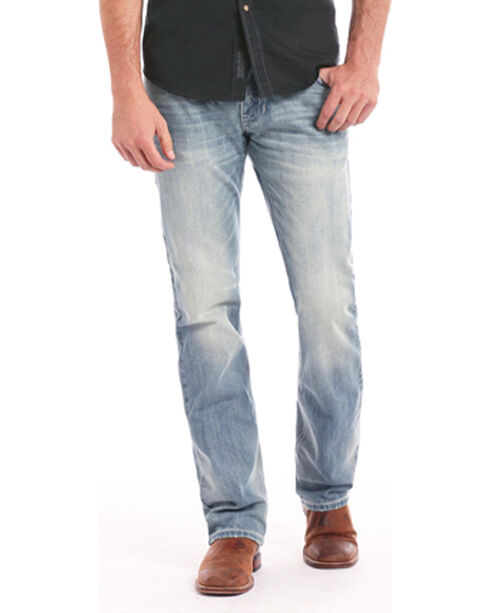 Rock & Roll Cowboy Men's Indigo Revolver Light Jeans - Straight Leg , Indigo, hi-res