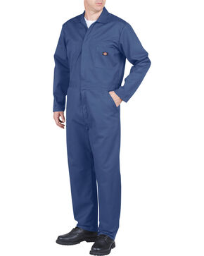 Dickies Long Sleeve Coveralls, Blue, hi-res