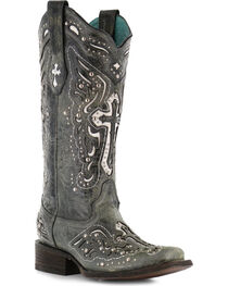Corral Women's Studded Cross and Wing Western Boots, , hi-res