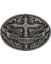 Cody James® Faith Courage Pride Belt Buckle, , hi-res