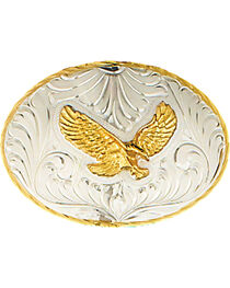 Western Express Men's Silver German Eagle Belt Buckle , , hi-res
