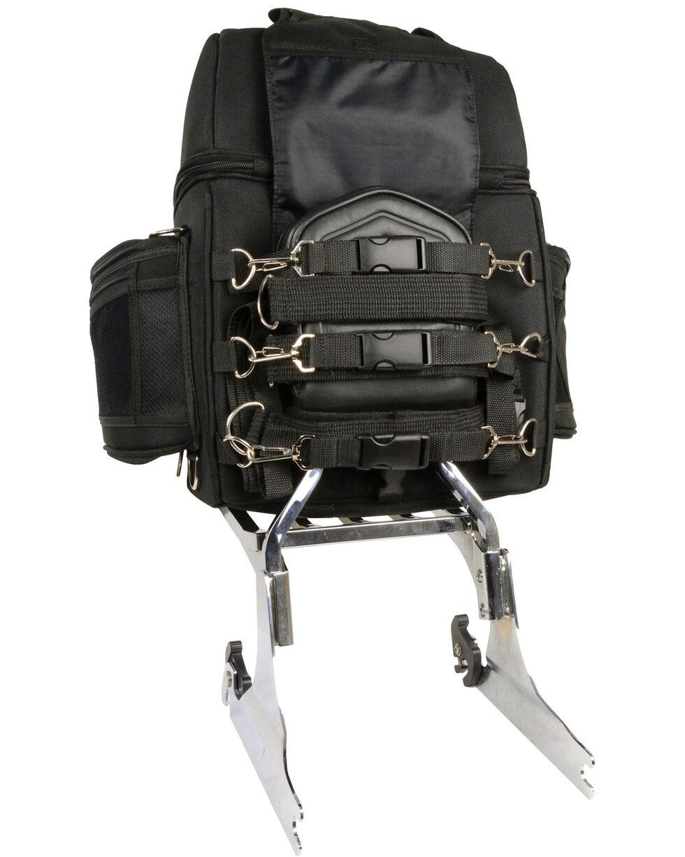 Milwaukee Leather Medium Nylon Sissy Bar Bag, Black, hi-res