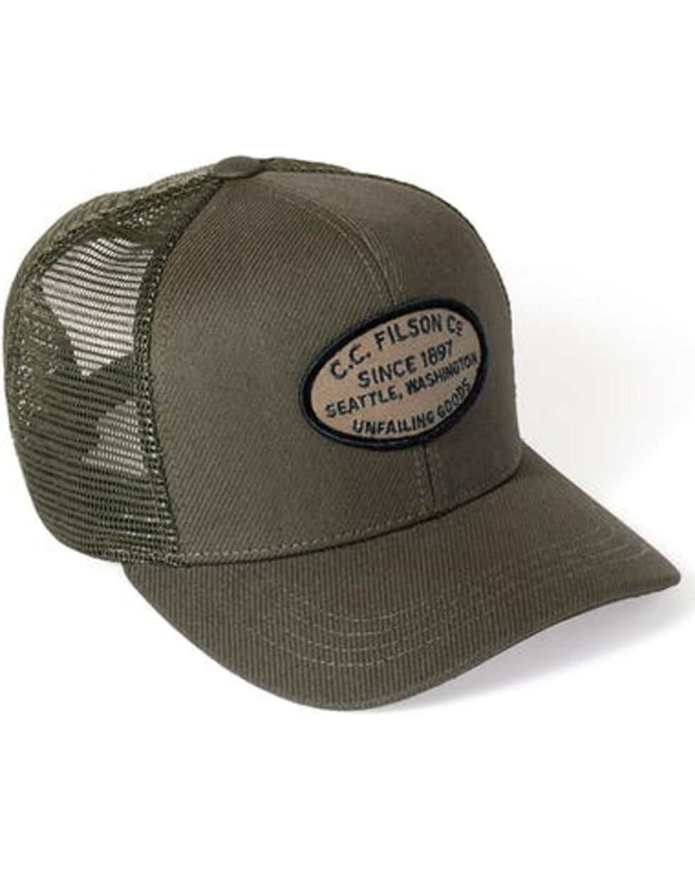 Filson Men's Otter Green Buckshot Twill Mesh Hat , Hunter Green, hi-res
