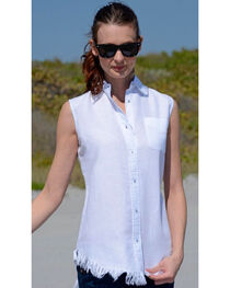 Dizzie Lizzie Women's Sleeveless Button-Down Tunic , , hi-res