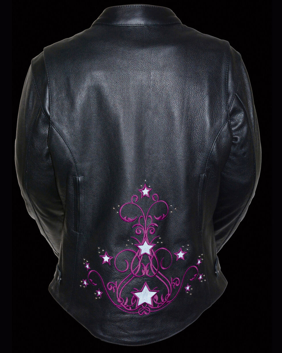 Milwaukee Leather Women's Reflective Star Jacket - 5X, , hi-res