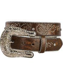 Nocona Rhinestone Embellished & Studded Belt, , hi-res