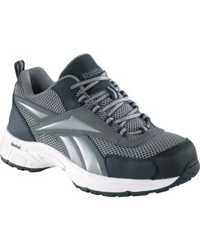 Reebok Women's Kenoy Cross Trainer Shoes - Steel Toe, Grey, hi-res