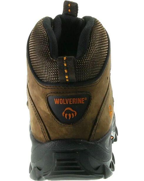 Wolverine Men's Hudson Mid Cut Steel Toe Hiker Boots, Dark Brown, hi-res