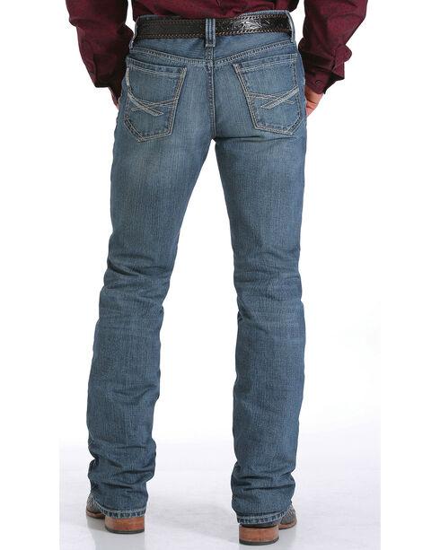 Cinch Men's Ian Mid Rise Slim Boot Cut Jeans, Indigo, hi-res