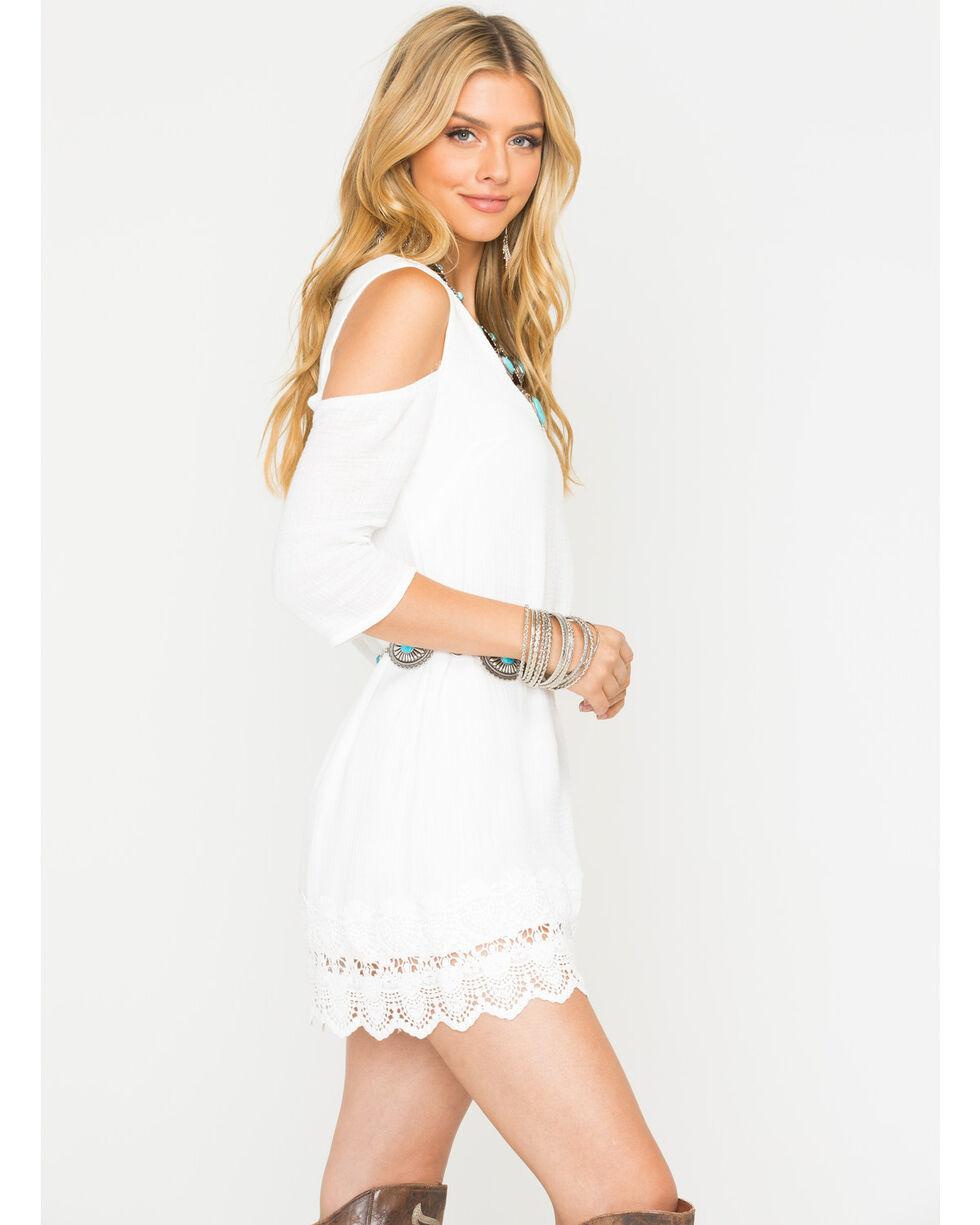 Jack Women's White Stefani Gauze Dress , White, hi-res