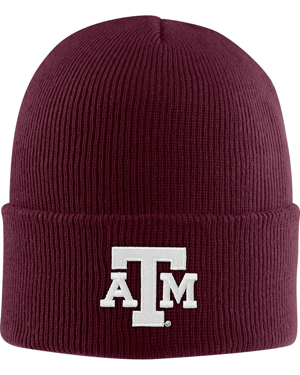 Carhartt Men's Texas A&M Watch Beanie, Burgundy, hi-res