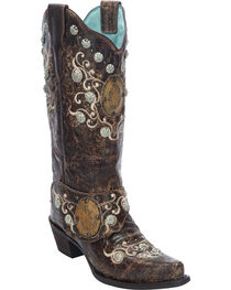 Corral Women's Concho Harness Western Boots, , hi-res
