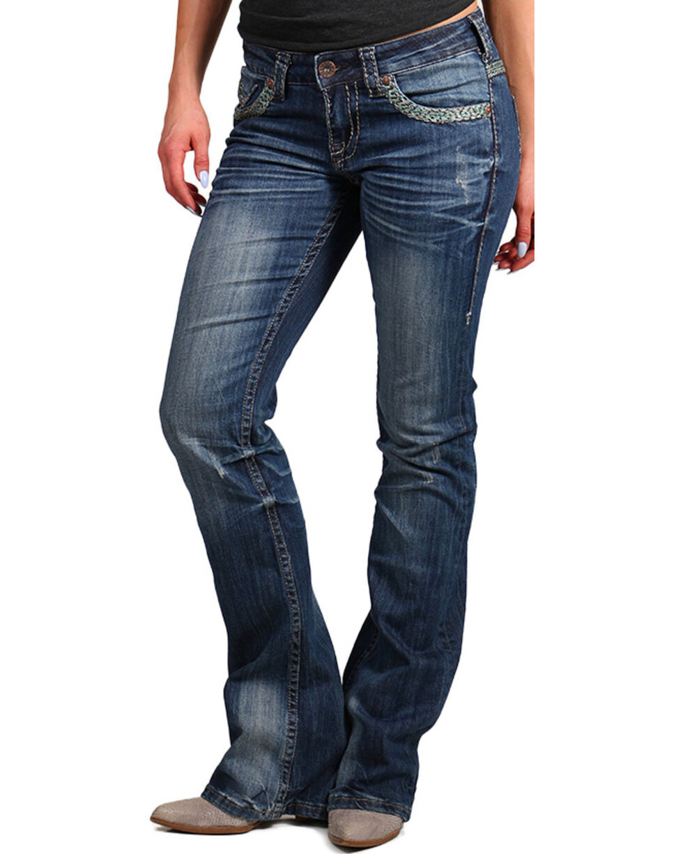 Cowgirl Tuff Trailblazer Boot Cut Jeans, Indigo, hi-res