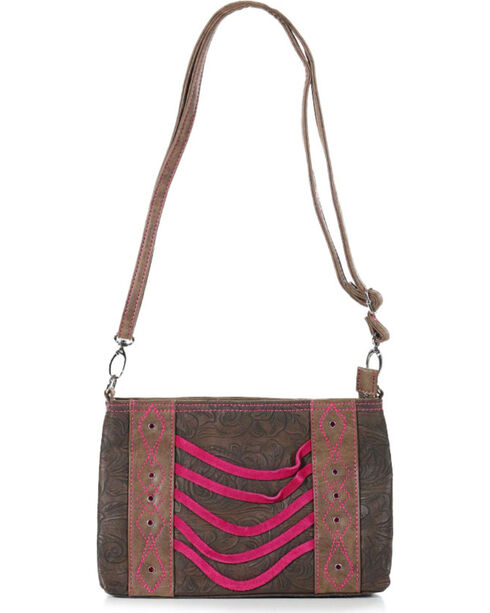 Catchfly Women's Paige Crossbody Bag, Brown/pink, hi-res