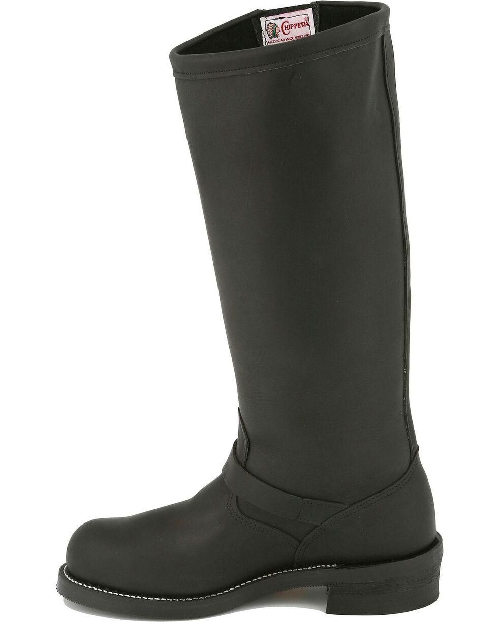 Chippewa Men's Engineer Steel Toe Motorcycle Boots, Black, hi-res