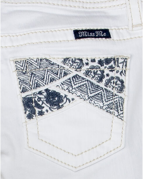 Miss Me Girl's Swept Away Bermuda Shorts, White, hi-res