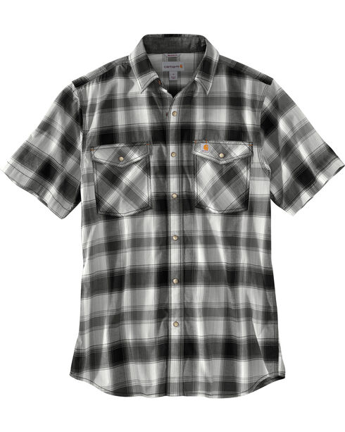 Carhartt Men's Rugged Flex Bozeman Short Sleeve Shirt , Black, hi-res