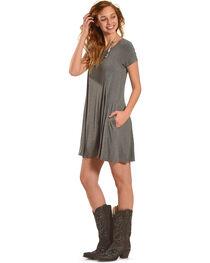 Z Supply Women's Charcoal Grey Swing T-Shirt Dress , , hi-res