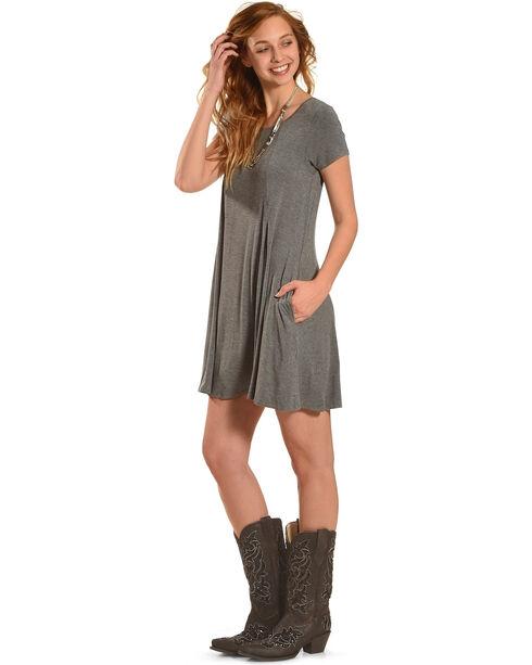 Z Supply Women's Charcoal Grey Swing T-Shirt Dress , Charcoal Grey, hi-res
