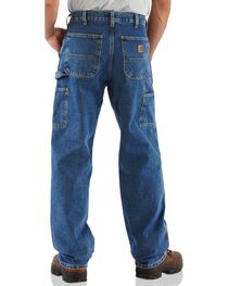 Carhartt Men's Signature Denim Dungaree Work Pants, , hi-res