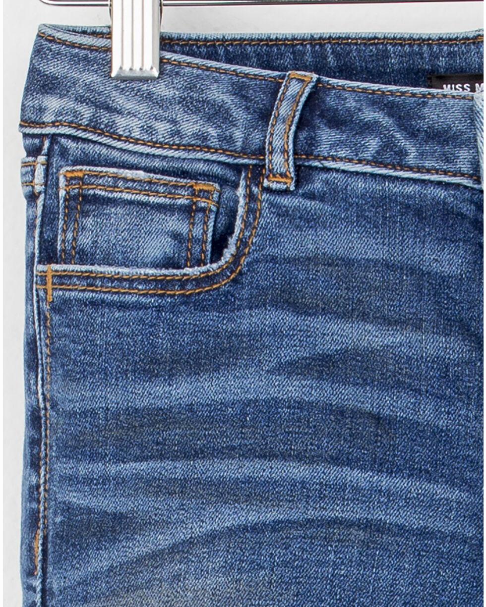 MIss Me Girls' (7-14) Crop Hem Boot Cut Jeans , Indigo, hi-res