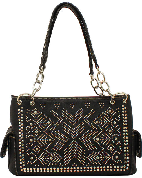 Blazin Roxx Women's Stud Embellished Purse, Black, hi-res