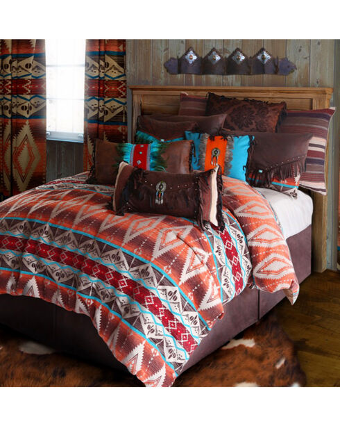 Carstens Mojave Sunset King Bedding - 5 Piece Set, Orange, hi-res
