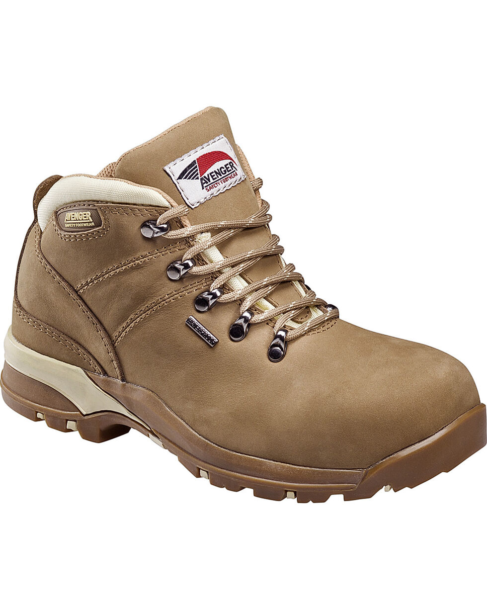Avenger Women's Waterproof Hiker Work Boots - Composite Toe, , hi-res