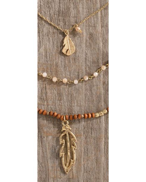 Shyanne Women's Layered Leaf Pendant Necklace, Multi, hi-res