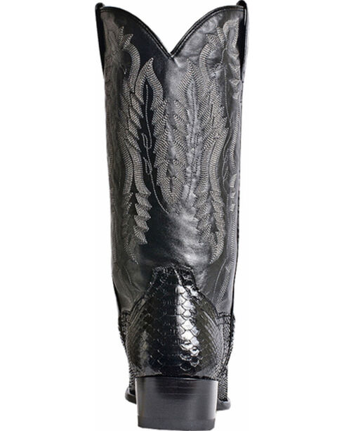 Dan Post Men's Omaha Python Cowboy Boots - Round Toe, Black, hi-res