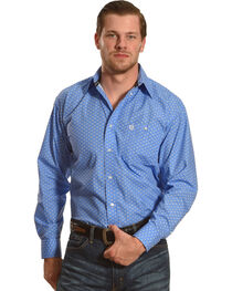 Wrangler George Strait Men's Bluegrass Long Sleeve Button Down Shirt - Big & Tall, , hi-res
