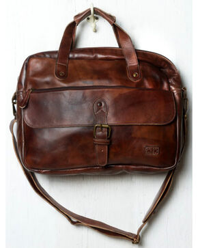Bed Stu Men's Nigel Teak Rustic Messenger Bag, Dark Brown, hi-res