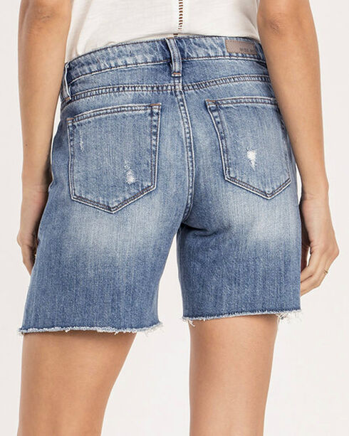 Miss Me Women's Indigo Break The Rules Shorts , Indigo, hi-res
