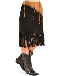 Kobler Leather Women's Leather & Fringe Sioux Suede Skirt, , hi-res