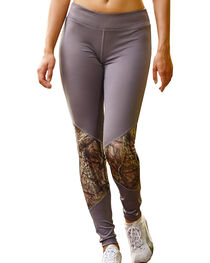 Wilderness Dreams Mossy Oak Break-Up Country Gunmetal Gray Active Tights, , hi-res