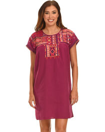 Johnny Was Women's Grape Reid Pleated Peasant Tunic , , hi-res