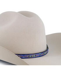 Cody James® Indigo Tribal Embroidered Hat Band, , hi-res