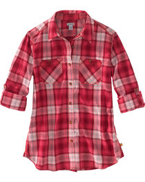 Carhartt Women's Plaid Long Sleeve Shirt, , hi-res