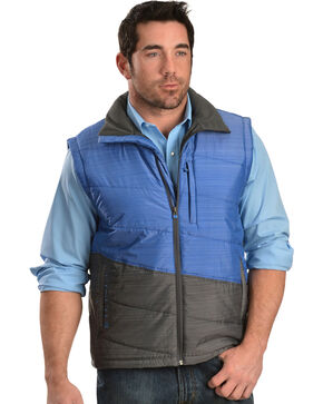 Cinch Men's Lightweight Polyfill Blue Vest, Blue, hi-res