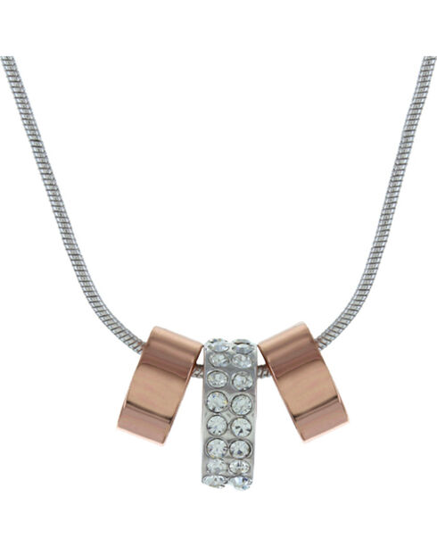 Montana Silversmiths Women's Rose Gold & Shine Necklace, Silver, hi-res