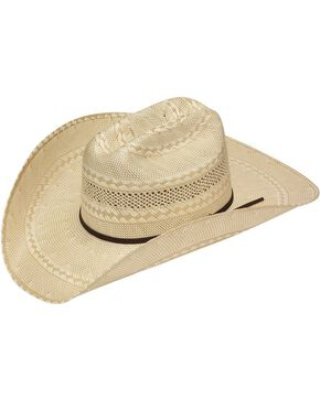 Twister 20X Shantung Double S Straw Cowboy Hat, Tan, hi-res
