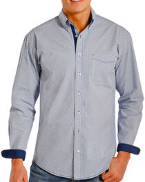 Panhandle Men's Contrast Printed Long Sleeve Shirt, , hi-res