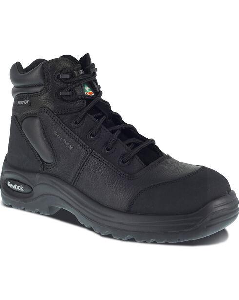 "Reebok Women's Trainex 6"" Lace-Up Work Boots - Composition Toe, Black, hi-res"