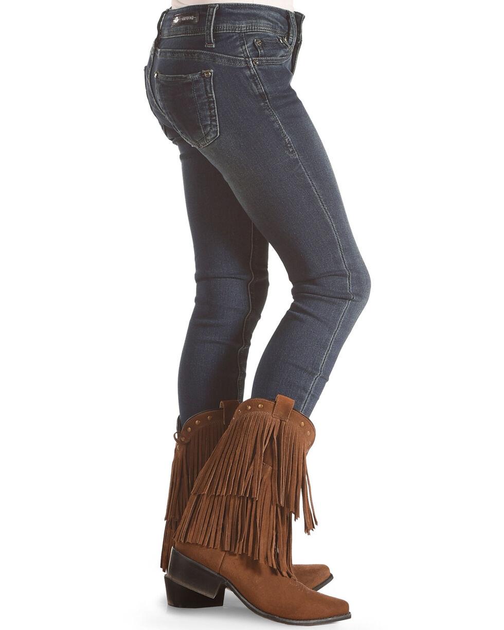 Grace in LA Girls' Stretch Skinny Jeans, Blue, hi-res