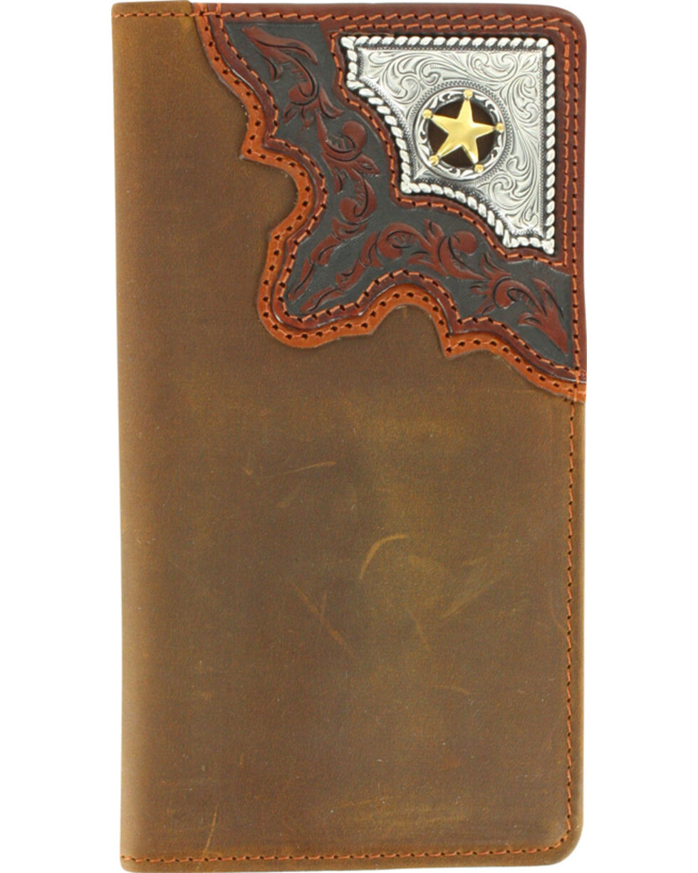 Cody James® Men's Cowboy Way Wallet and Checkbook Cover, Brown, hi-res
